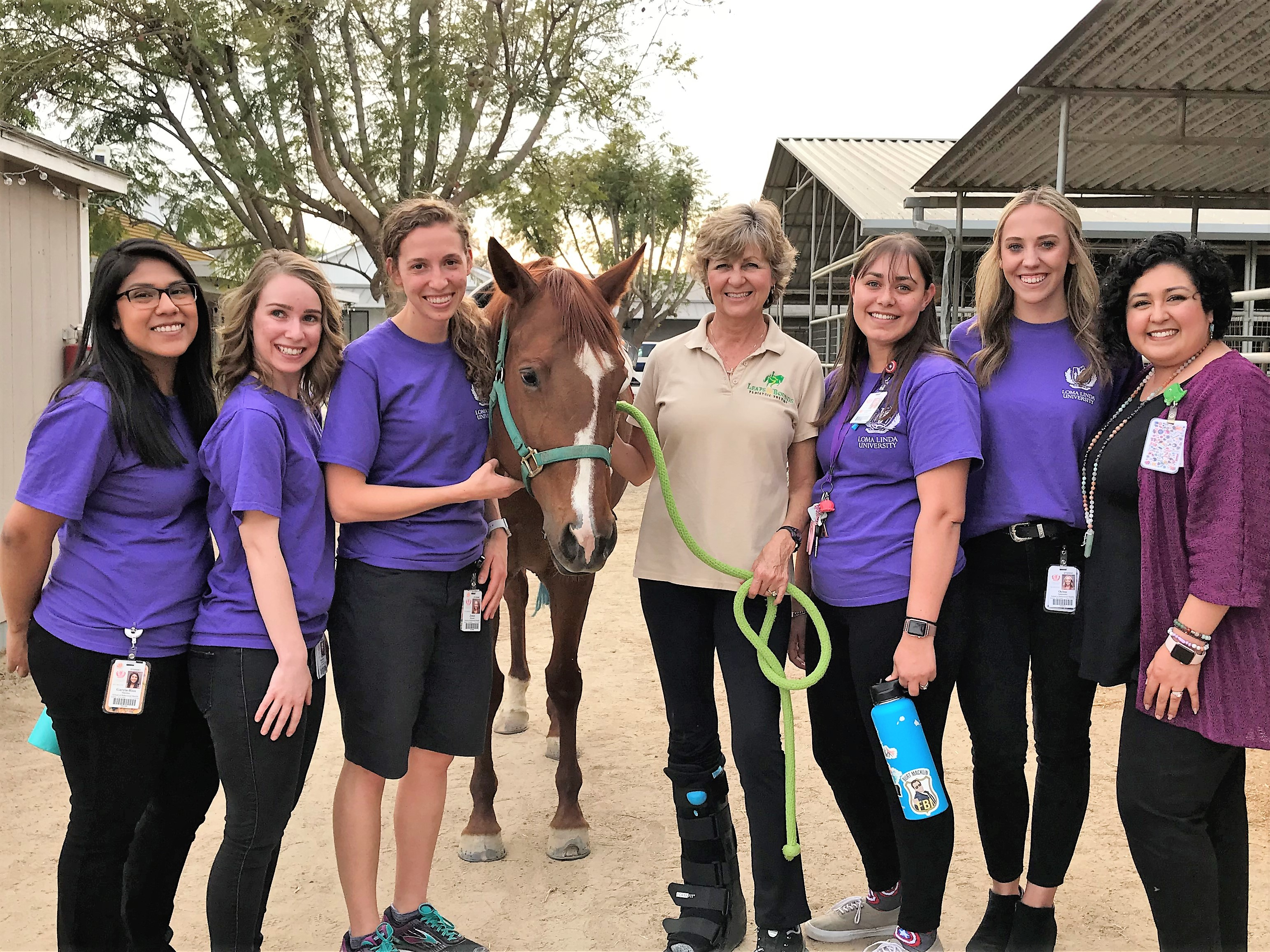 LLU Child Life Specialist MS students and faculty at the Pony Clinic
