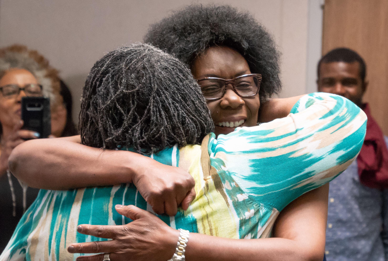 Dr. Viola Lindsey at her retirement reception