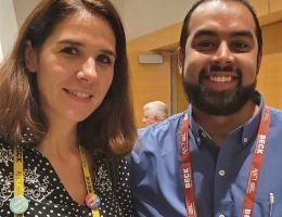 Dr. Maya Boustani and student Jaynish Hazari at the 2019 ABCT national conference