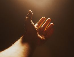 Hand reaching out