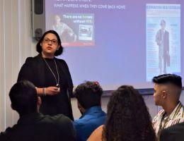 Georgia Martinez (SAC Health System) presents to MHPP students