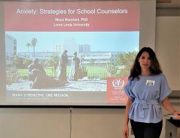Dr. Maya Boustani presents at CSUSB