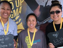 Social Work students Sophia Williams, Tori Dang, and Leslie Bautista